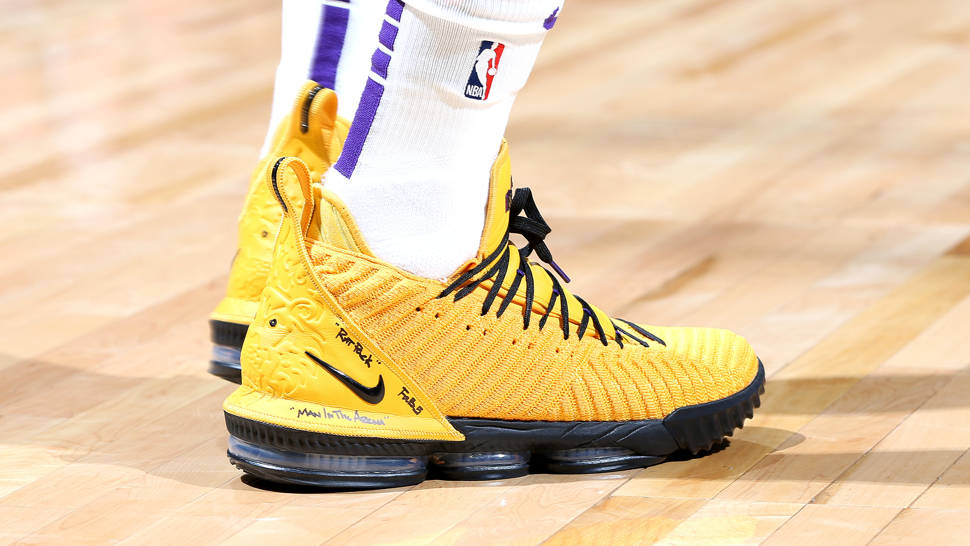 8510d940e0ff  SoleWatch  LeBron James Debuts Yellow Nike LeBron 16