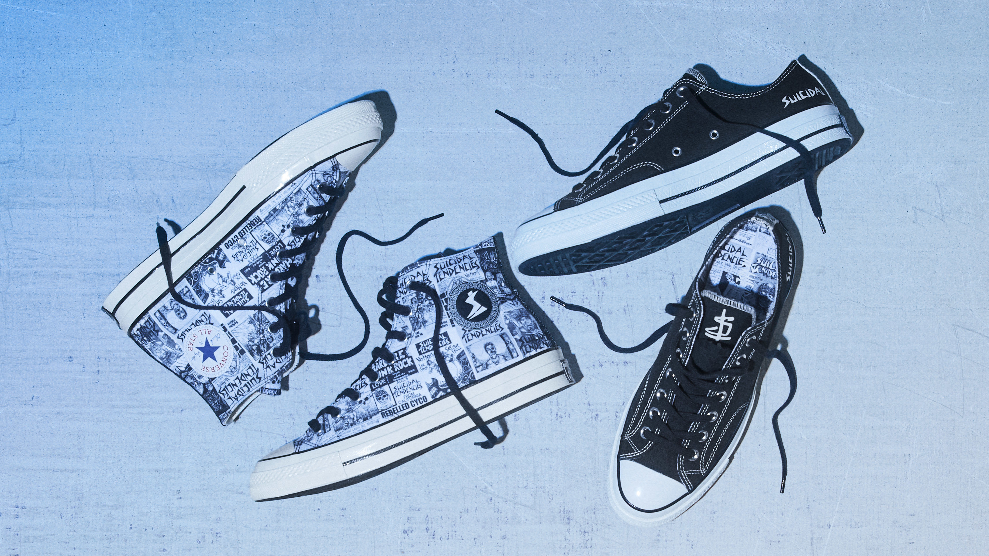bda01d1d7a0465 Suicidal Tendencies x Converse Chuck 70 Hi and Low Release Date ...