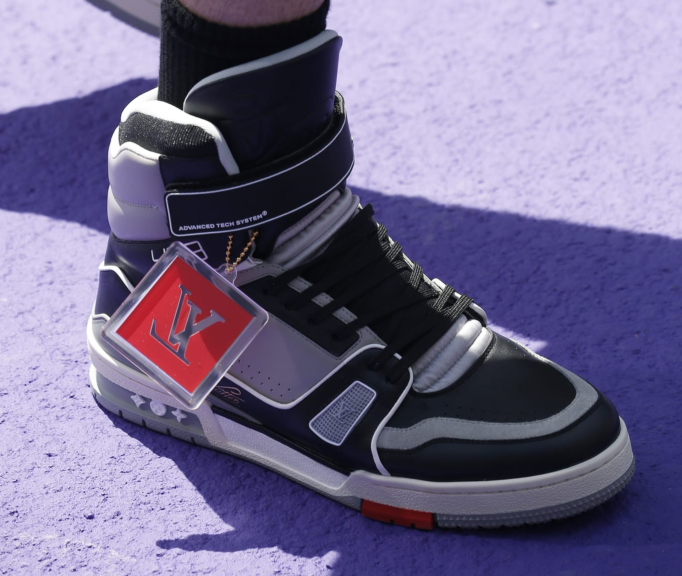 4156a4e1d61427 ... Virgil Abloh s Louis Vuitton Sneakers. Straight from the Paris Fashion  Week runway.
