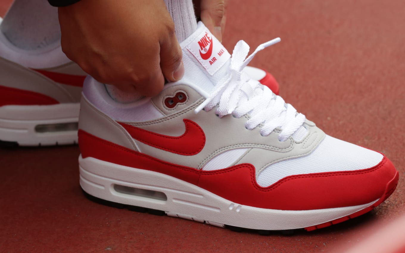 detailed look 17a78 95bf2 OG Nike Air Max 1 White Red Restock   Sole Collector