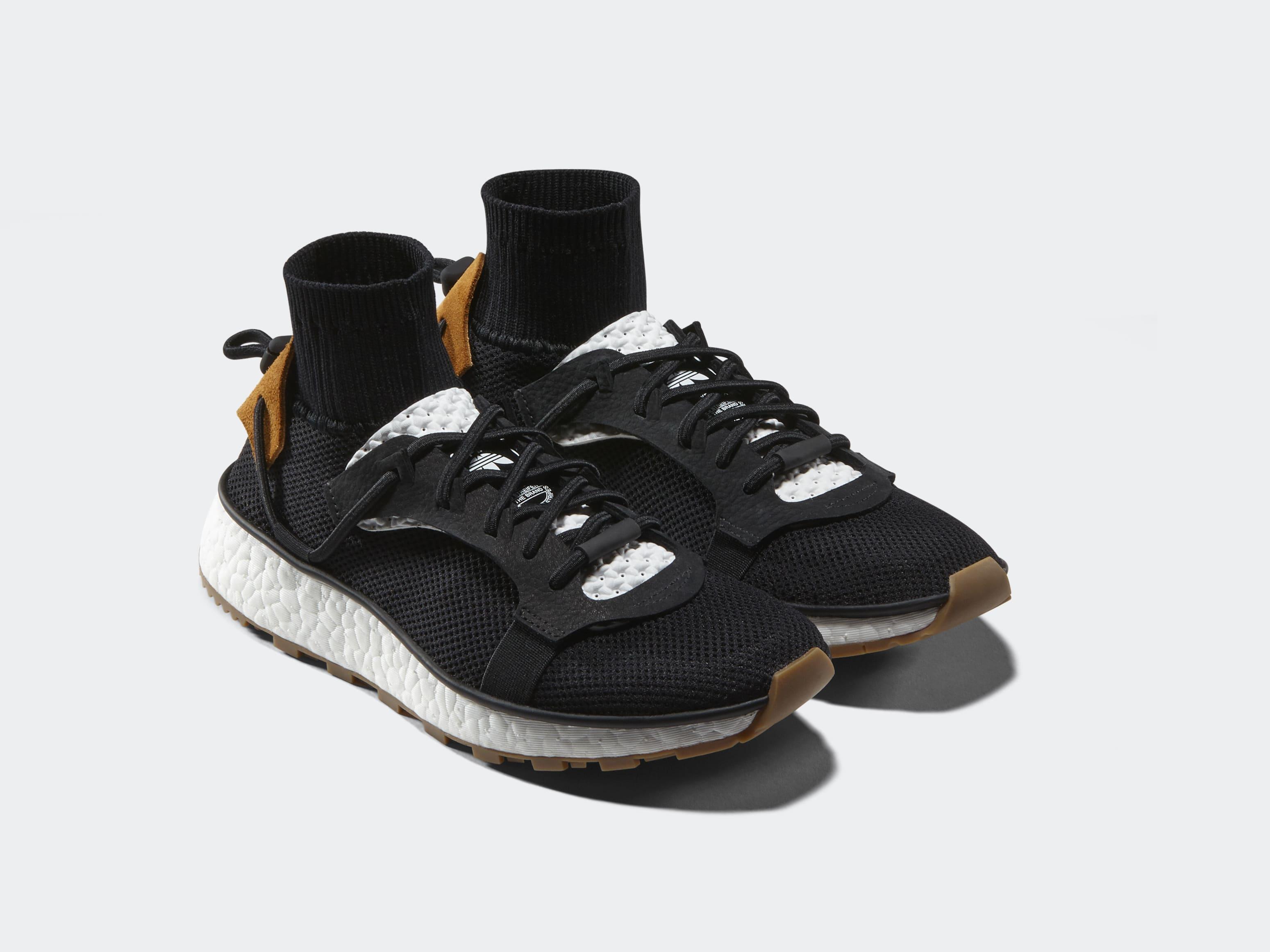 timeless design 38e43 5f61b alexander wang adidas boost white black gum
