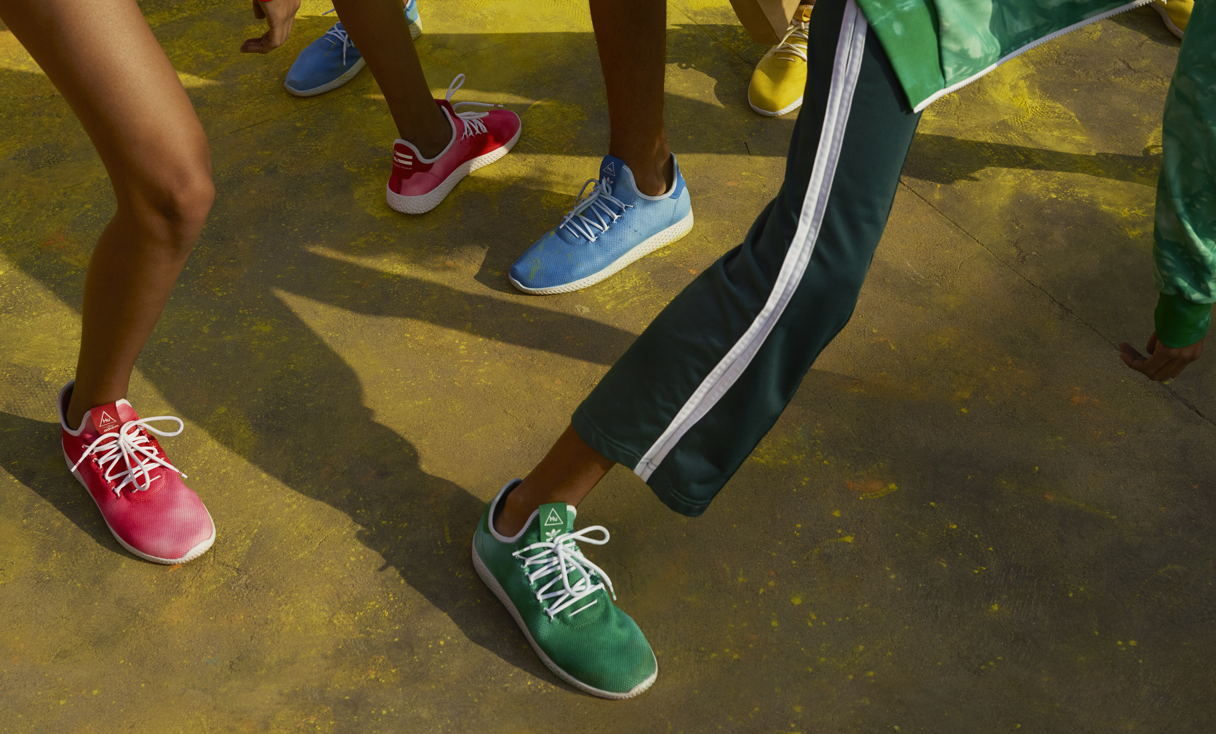 low cost e33ef 72ac5 Pharrell x Adidas Tennis HU and Stan Smith 'Holi' Collection ...