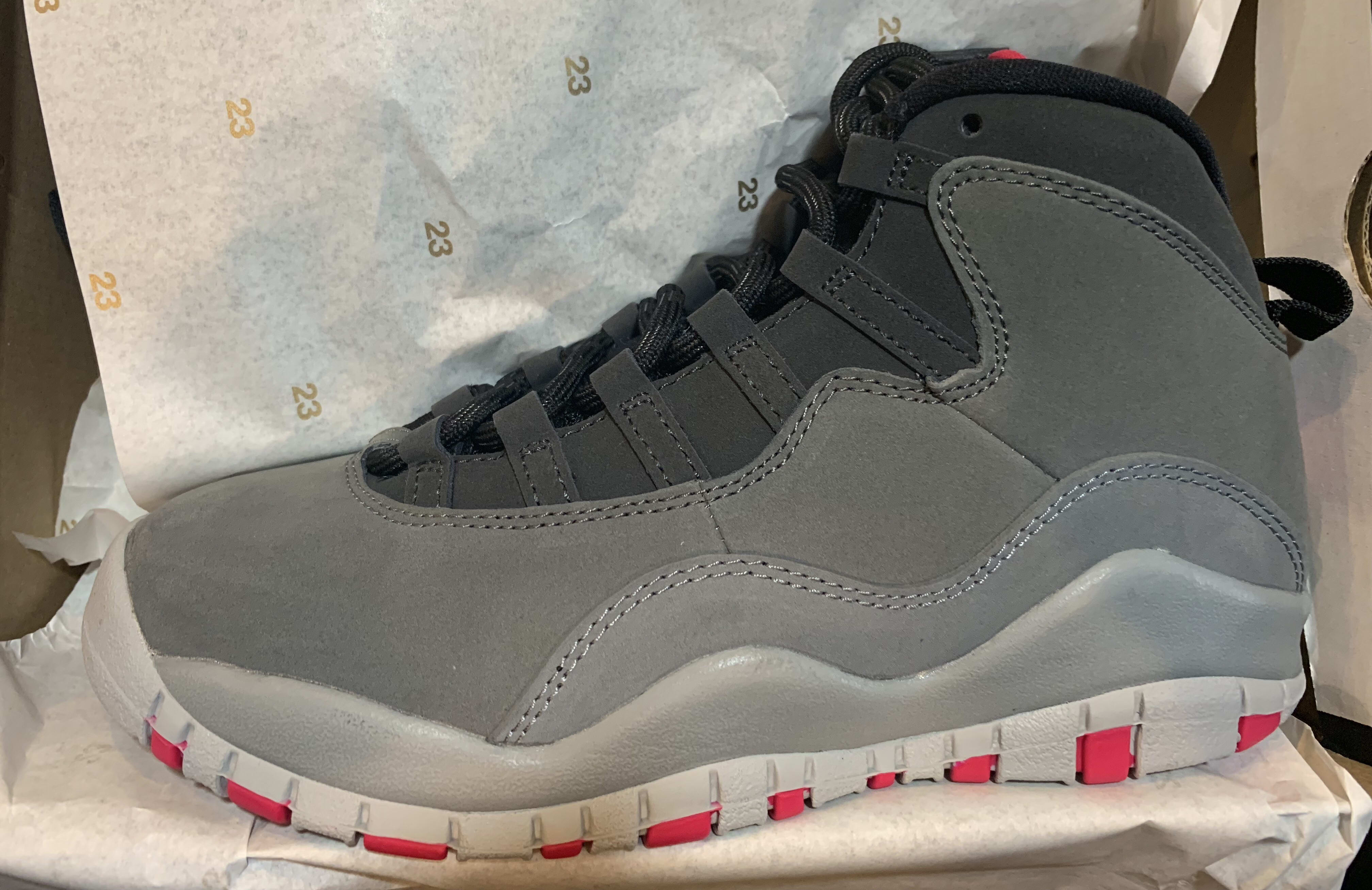 cheap for discount 2af13 56fa0 authentic jordan 10 red grey pink b4b25 83180