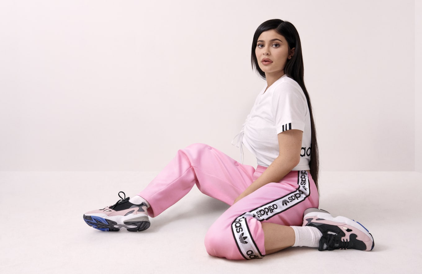 ADIDAS FALCON BLACKPINK KYLIE JENNER, Women's Fashion, Shoes