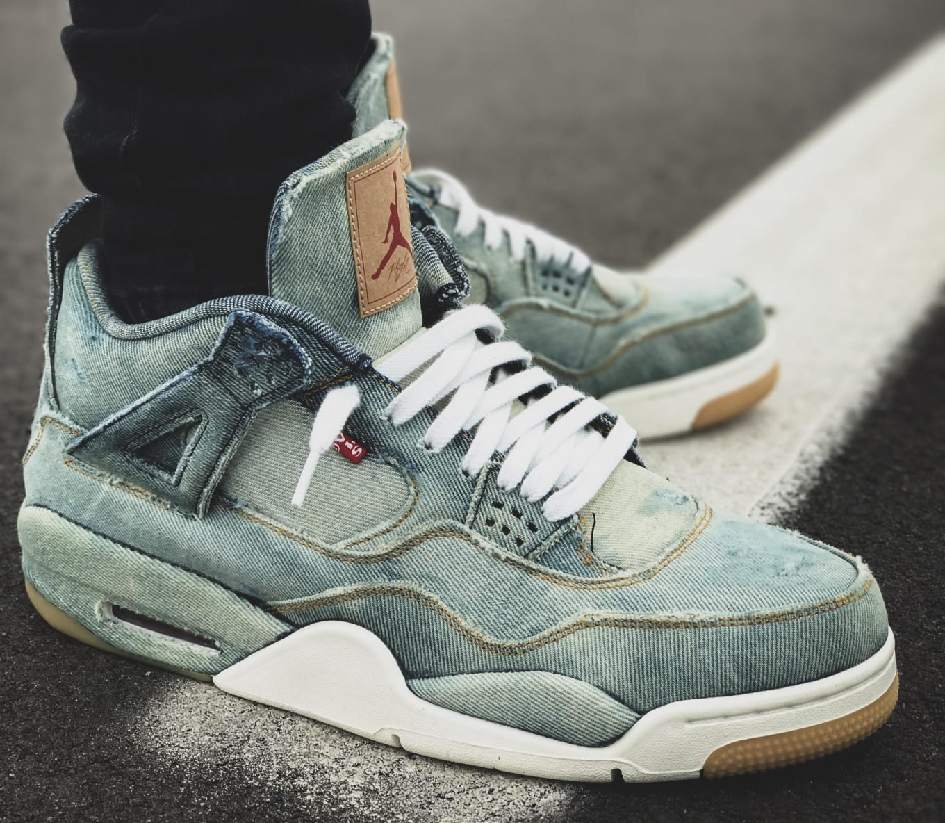meet ab58a 755b2 Custom Levi's x Air Jordan 4 | Sole Collector