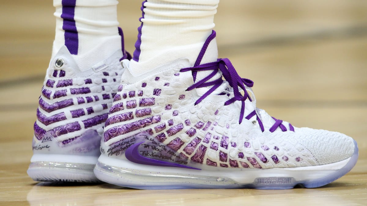 LeBron Purple  Nike 17 Every LeBron White - LeBron James