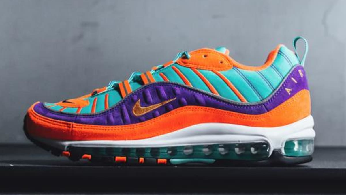 nike air max orange purple teal