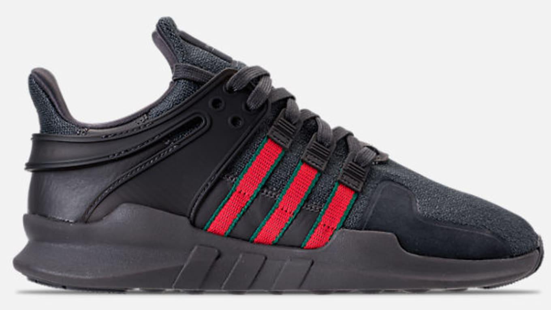 b5cca1b7d90 Adidas EQT Support ADV  Black Red-Green