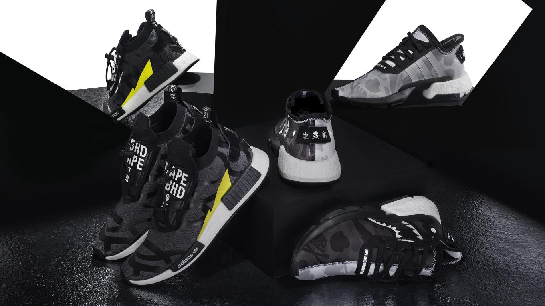 d75fd9d4468d Bape x Neighborhood x Adidas POD 3.1 EE9431 NMD STLT EE9702 Release ...