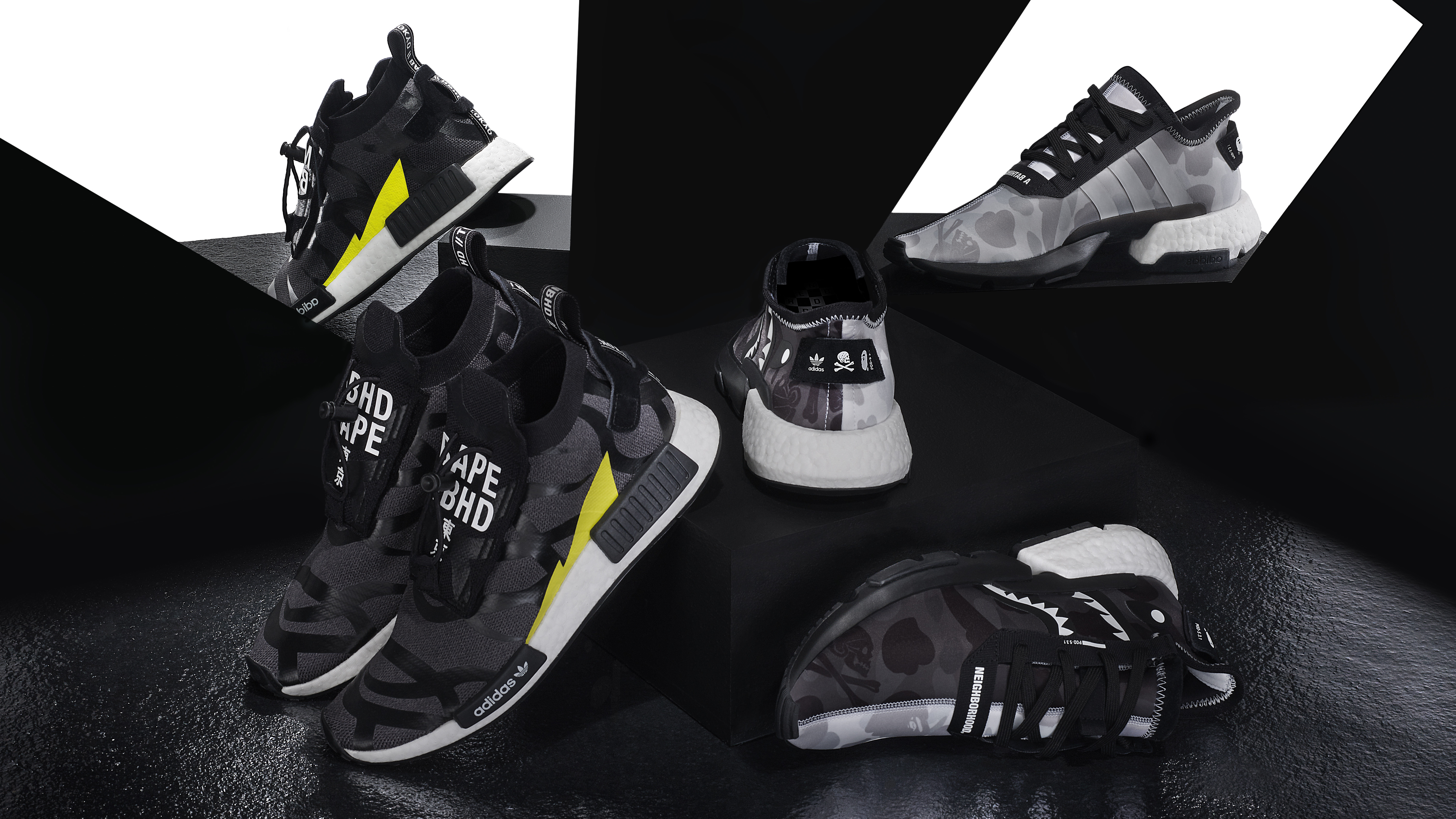 17cbe2162 Bape x Neighborhood x Adidas POD 3.1 EE9431 NMD STLT EE9702 Release Date