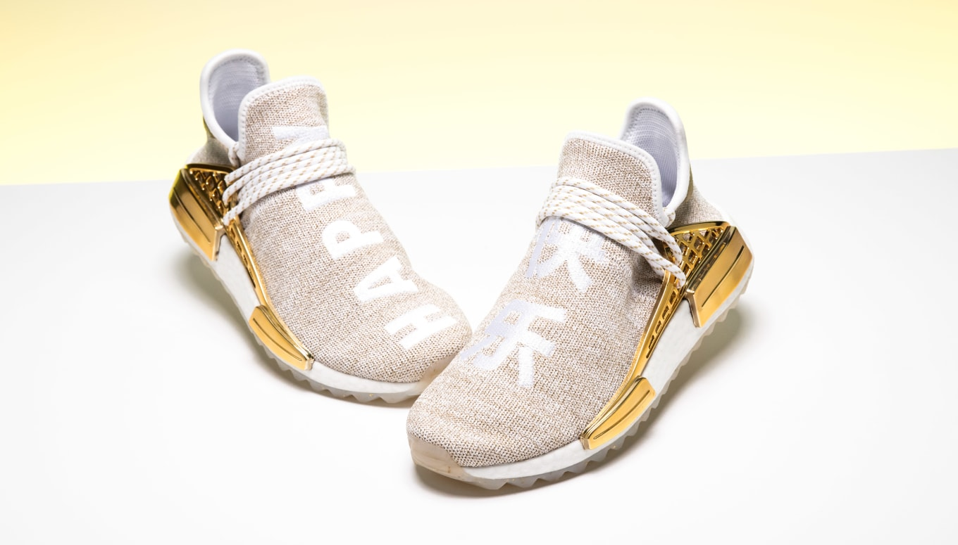competitive price c1b2b 78ec0 Pharrell Williams x Adidas NMD Hu 'China' Gold F99762 ...