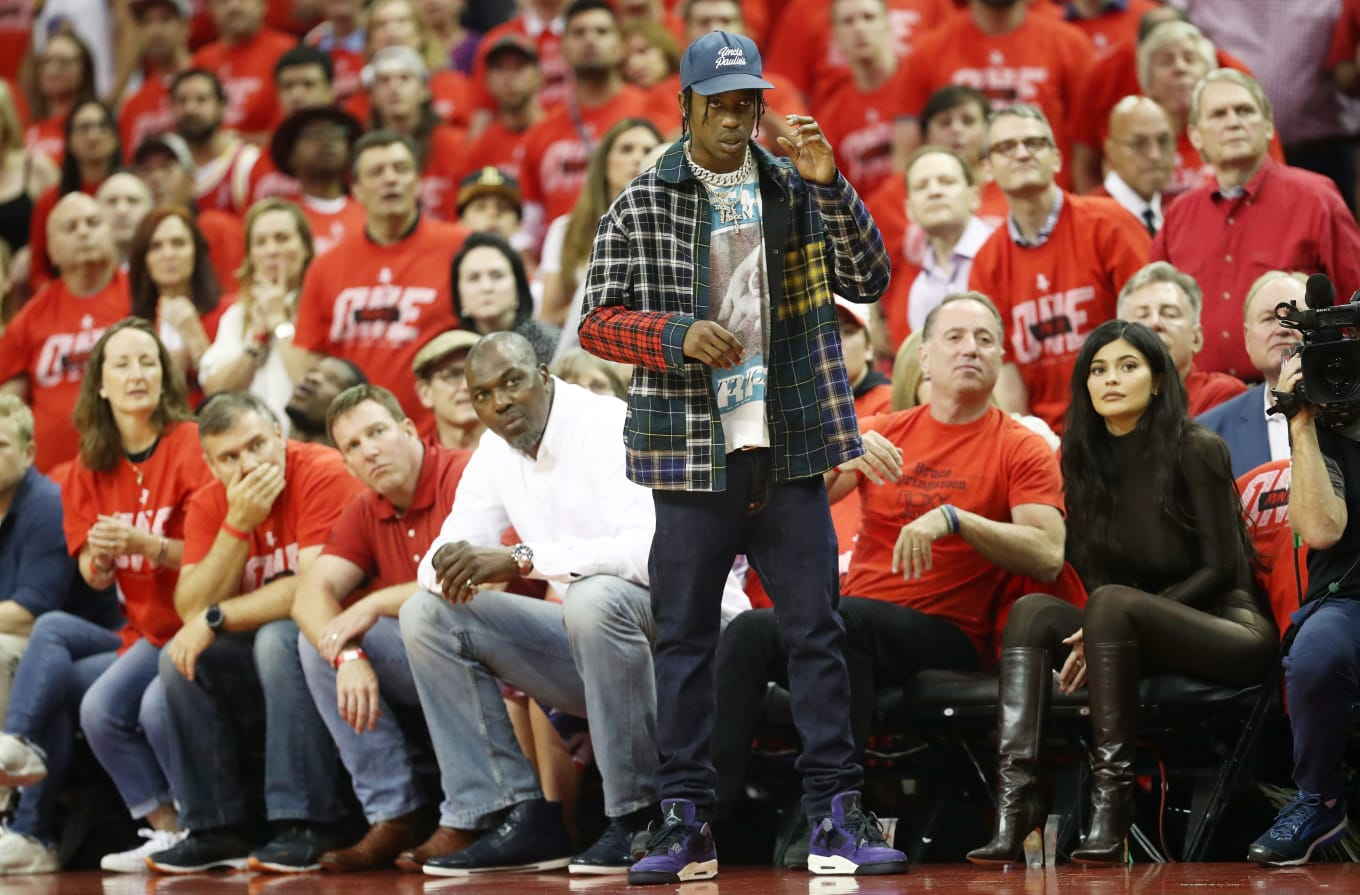 online retailer 32d20 4b69d Travis Scott Debuts Unreleased Air Jordan 4 in Purple | Sole ...