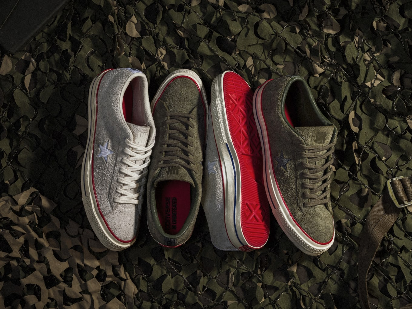 26d054e2a98d71 Undefeated and Converse Team Up for One Stars. Inspired by both brand s  sport and military influences.