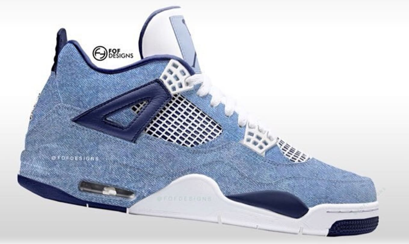 Air Jordan 4  Acid Wash Denim  January 2019 Release Date  0dda68903