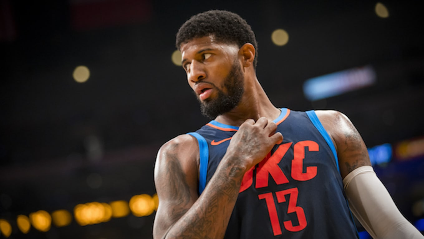 fb356f3aed4 Paul George Comments On Zion Williamson s Nike Sneaker Blowout. Projected  number one pick was wearing George s signature model.