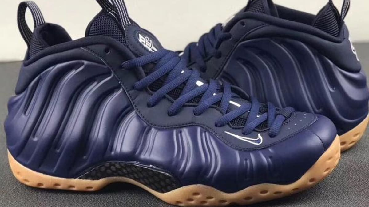 4cd825246b2 Nike Air Foamposite One  Midnight Navy Gum Light Brown-White  Release Date