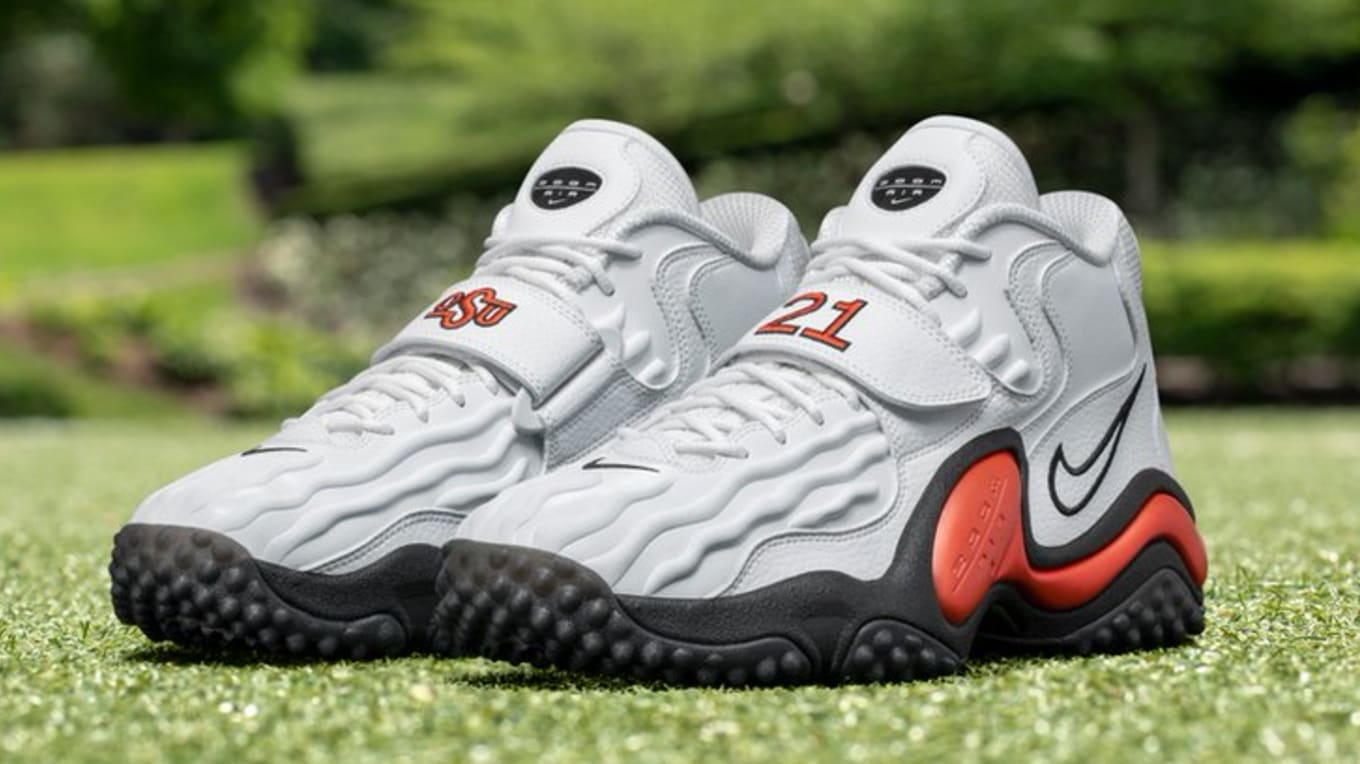 classic so cheap how to buy Nike Air Zoom Turf Jet 97 'Oklahoma State/Barry Sanders ...