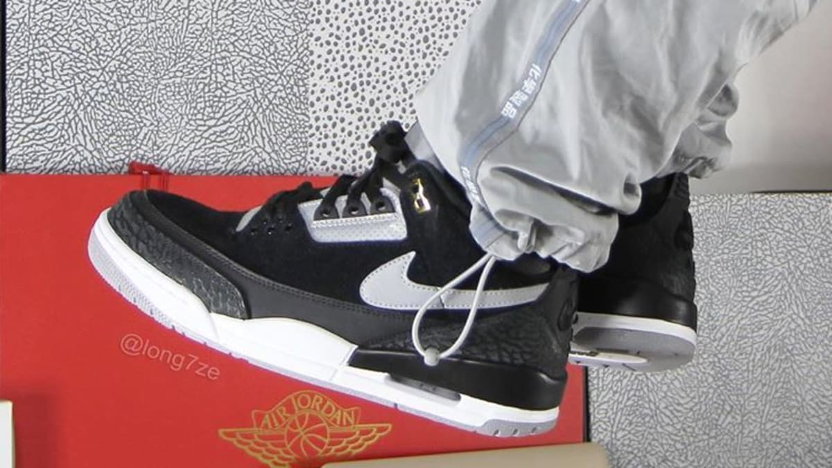 There's a 'Black/Cement' Air Jordan 3 Tinker on the Way
