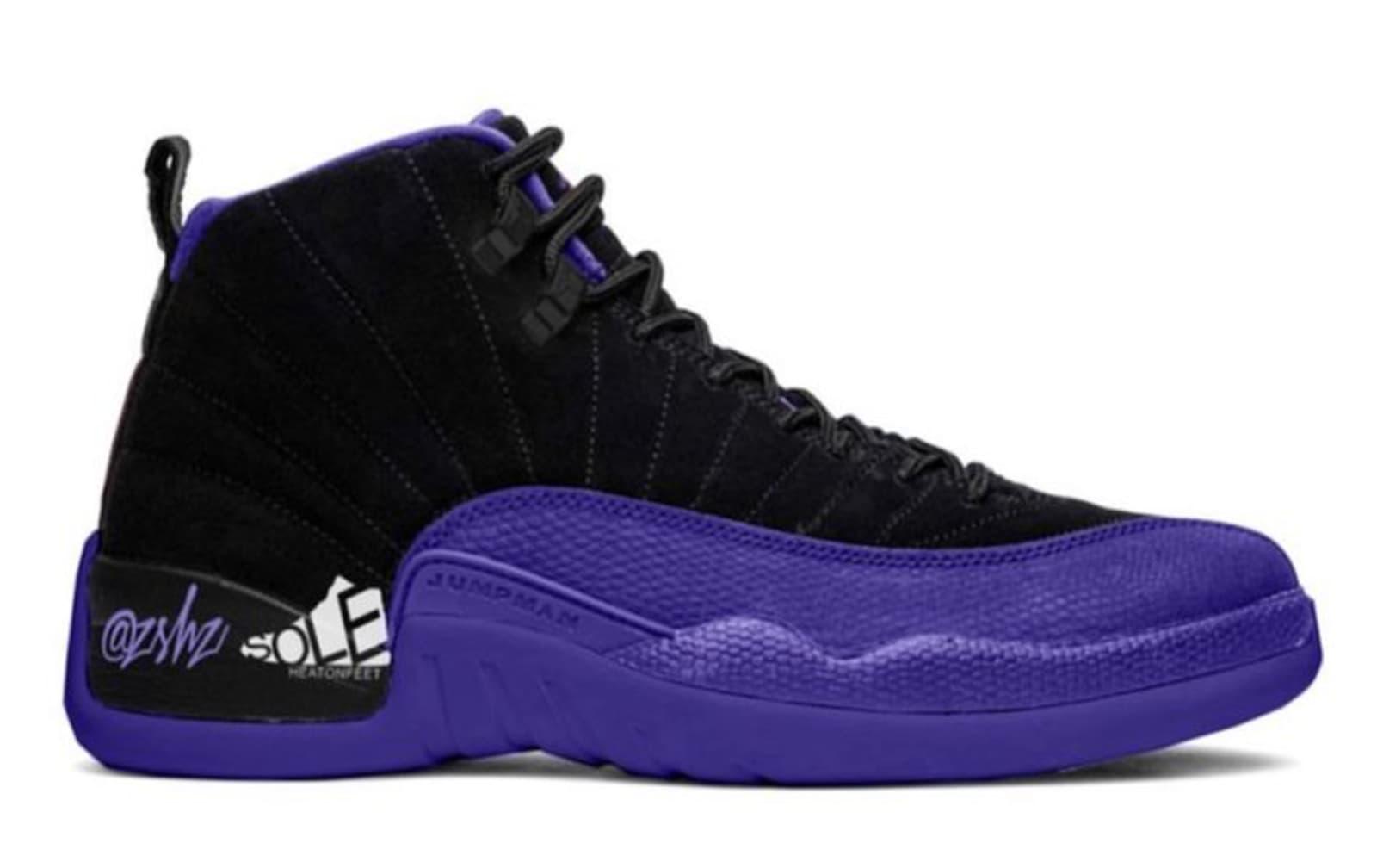 "Air Jordan 12 ""Dark Concord"" Rumored For The Fall: First Look"