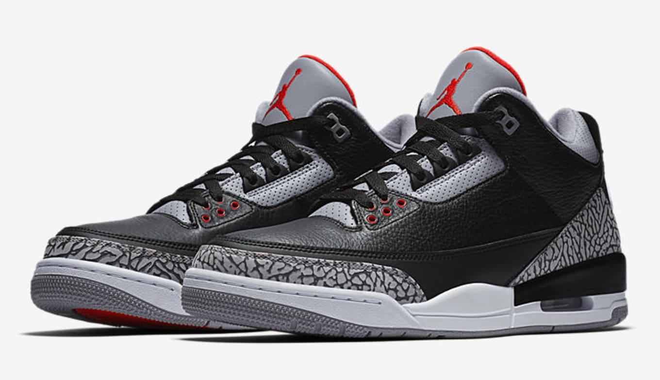 e5c378f2ab4c36 Air Jordan 3  Black Cement  Shiekh Shoes Restock