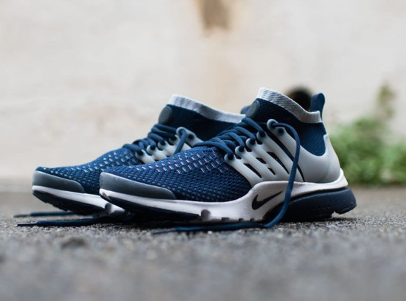 e56017a9ab82 Nike Air Presto Flyknit Ultra Navy and Volt
