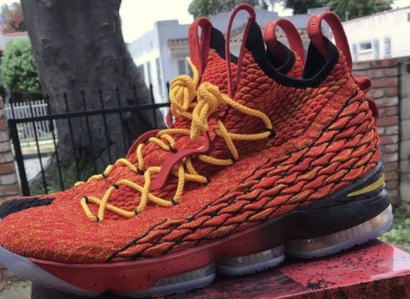 1cb4a227404 Nike LeBron 15  Fairfax Lions  Player Exclusive Sneakers
