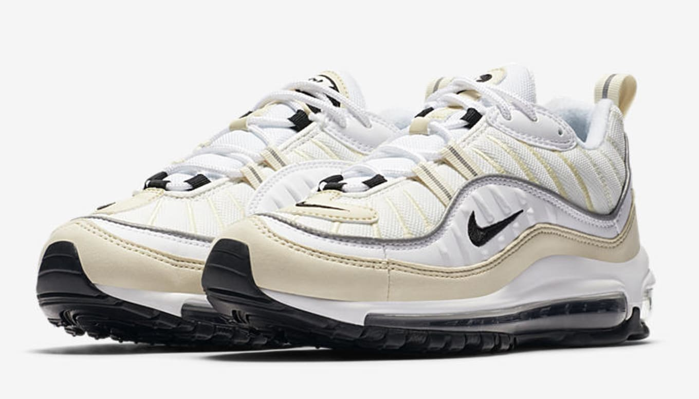 402a95986eb4 WMNS Nike Air Max 98 White Black Fossil AH6799-102 Release Date ...