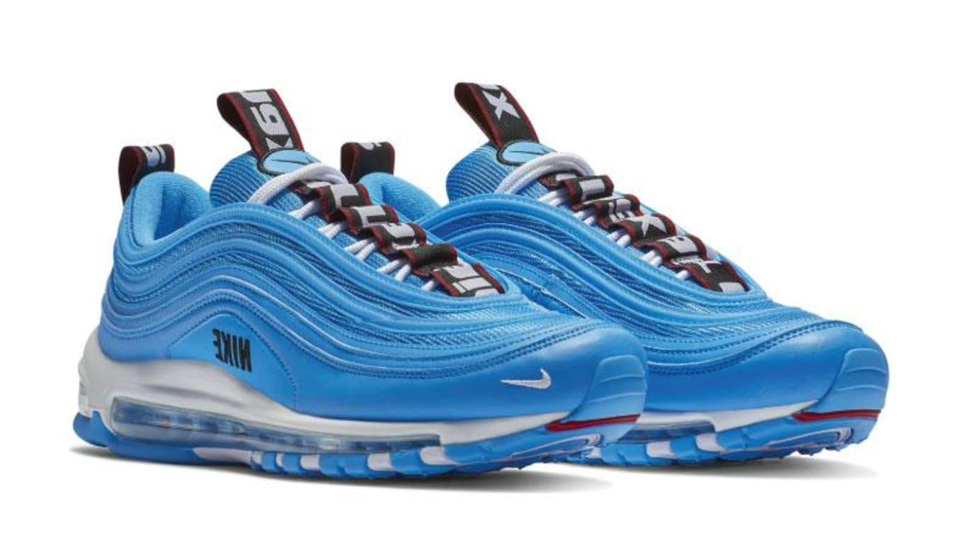 purchase cheap 82a4e 8b184 Nike Swaps Its Branding for the  Blue Hero  Air Max 97. New colorway  releasing in Nov.
