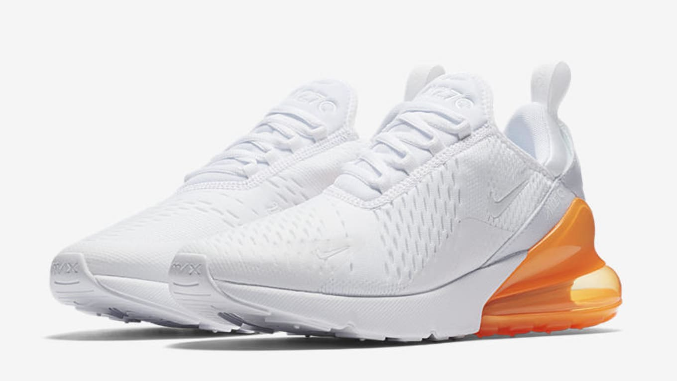 90d88d2132 Nike Air Max 270 'White Pack' Total Orange AH8050-102 Hot Punch ...