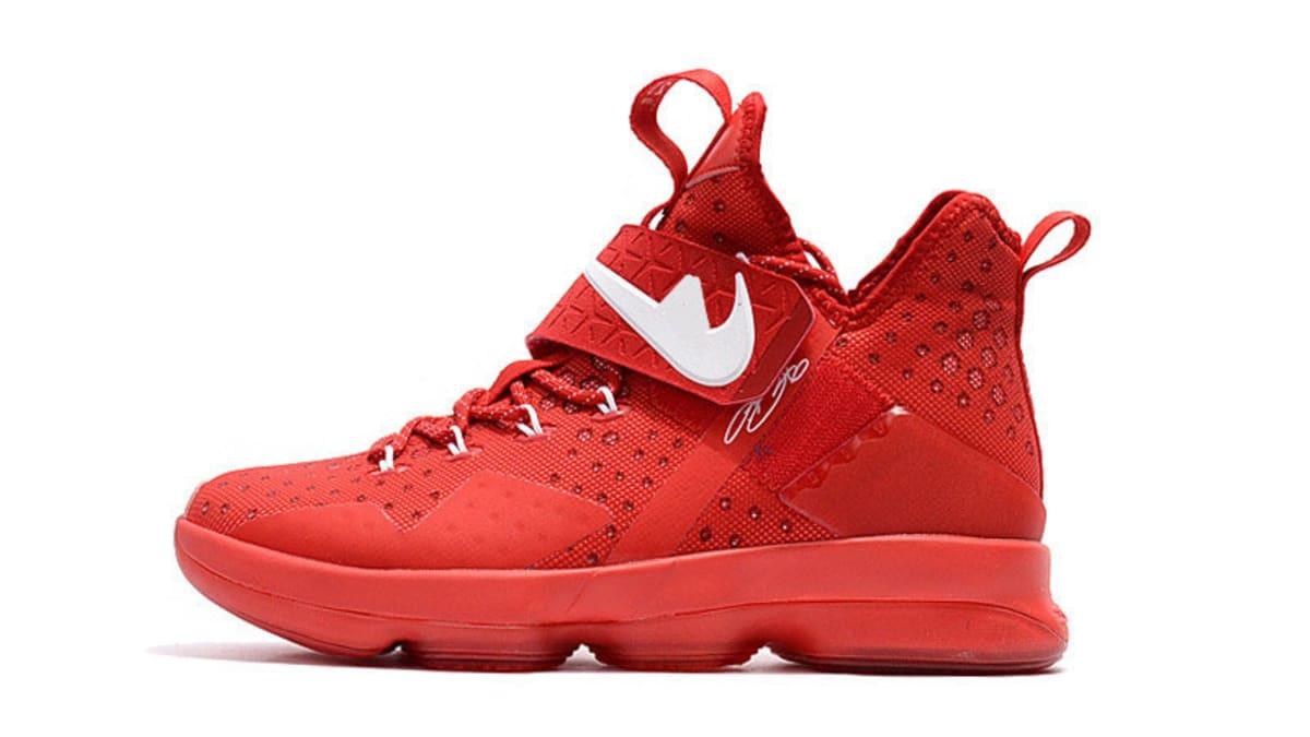 Cheap Nike LeBron 14 Big Apple University Red 2017 Release