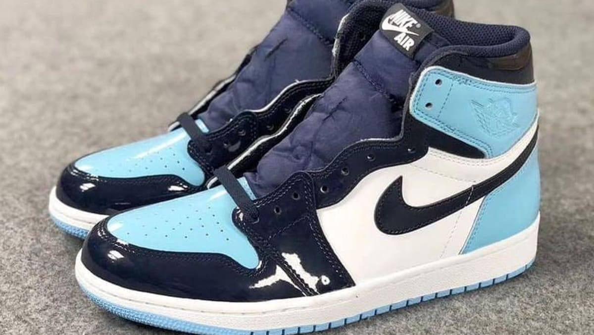 cc61f231cf75 Air Jordan 1 UNC Blue Chill Patent Release Date CD0461-401 Side ...