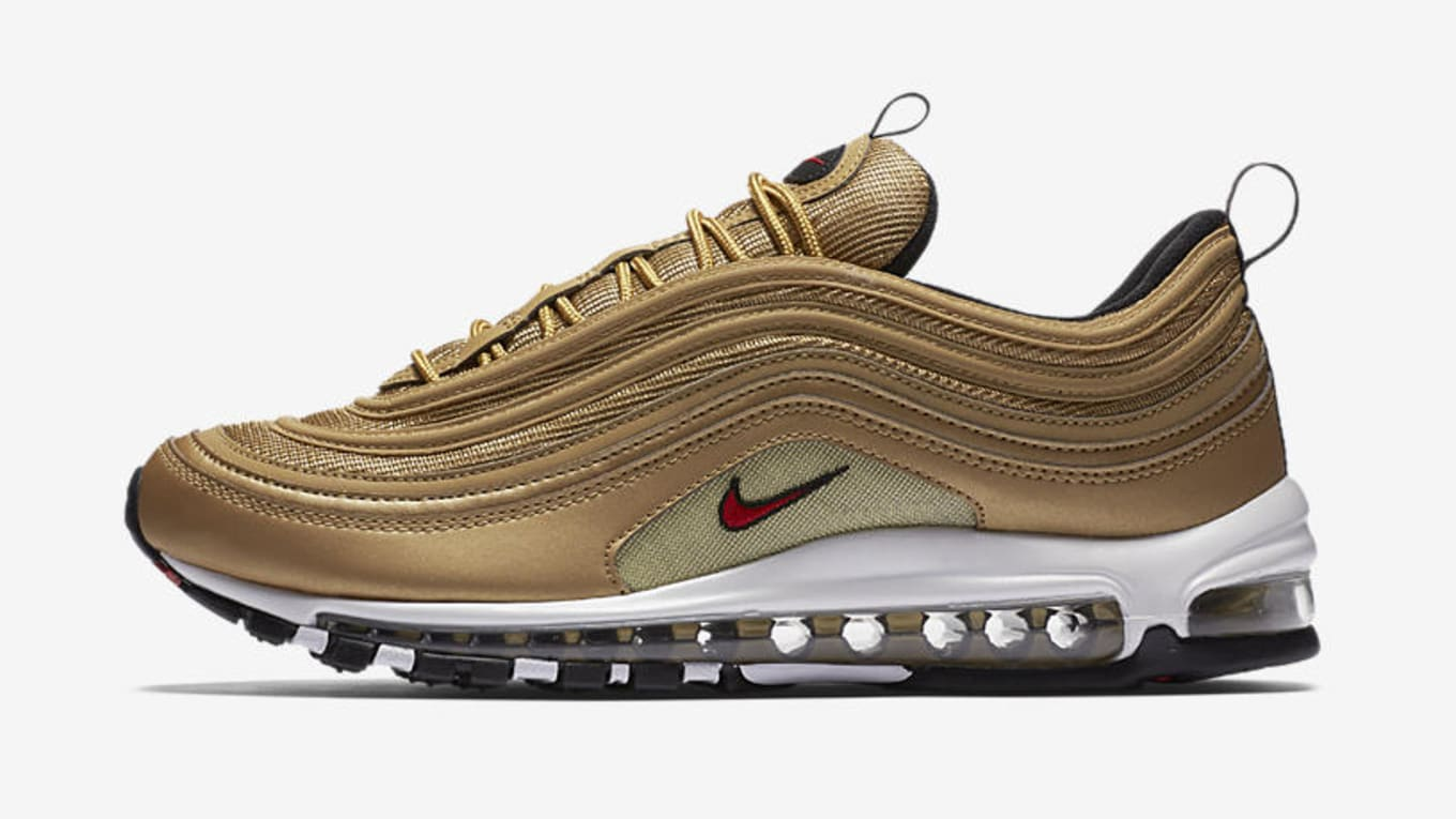 new styles 9ec08 838b8 Buy Gold Nike Air Max 97 Online | Sole Collector