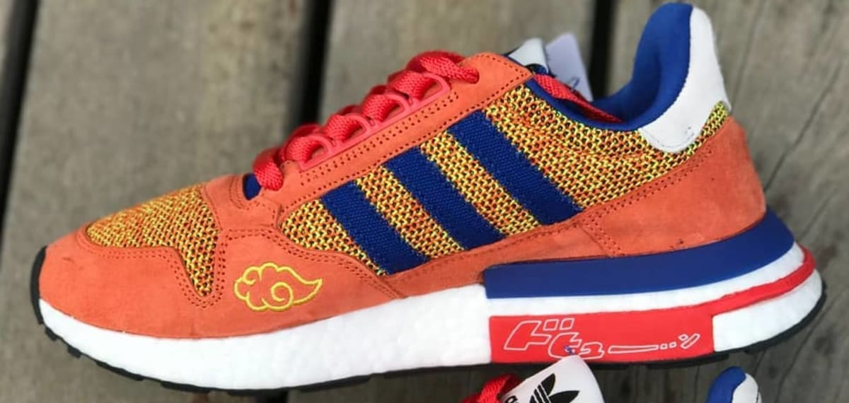 cheaper 4c783 ce3f1 Dragon Ball Z x Adidas ZX500 RM Son Goku First Look  Sole Co