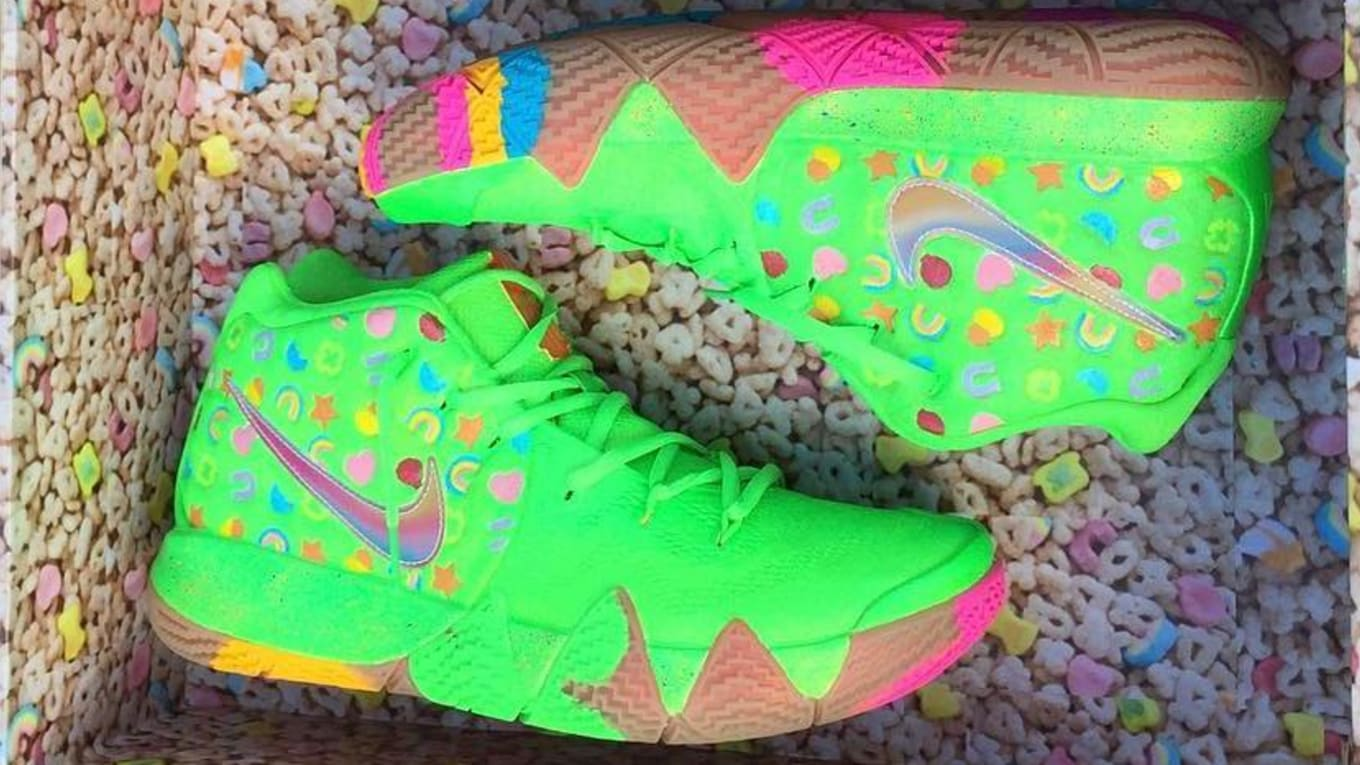 free shipping 01aed 01c34 Nike Kyrie 4 Green Lucky Charms | Sole Collector
