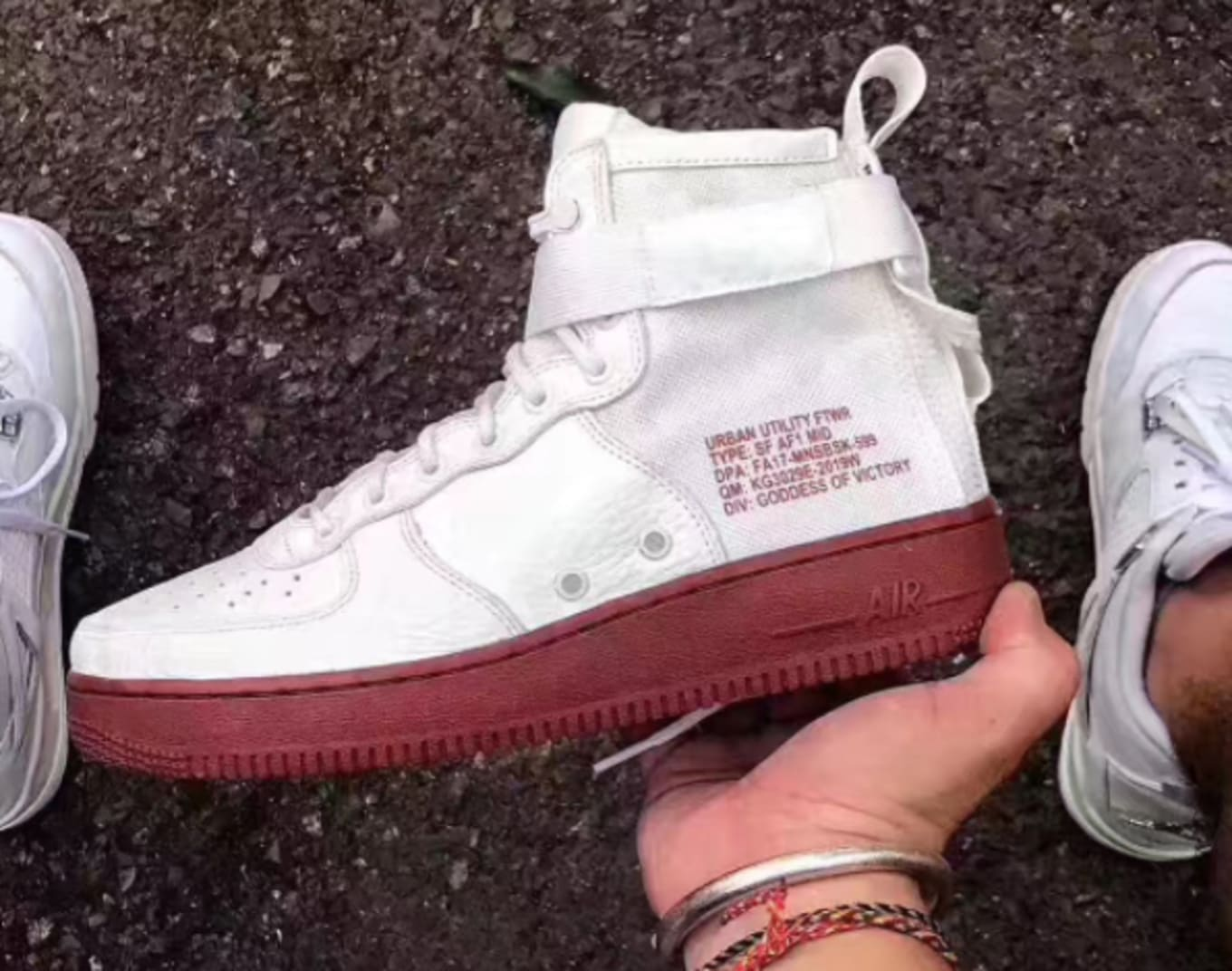 brand new e70b6 82c1c Nike SF AF-1 Mid Ivory Dark Red 917753-100 | Sole Collector
