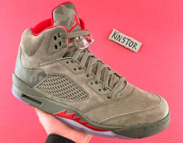 675c1bb48c31 ... DARK STUCCO UNIVERSITY RED  Air Jordan 5 (V)  Air jordan 5 retro bg big  kids shoes ...