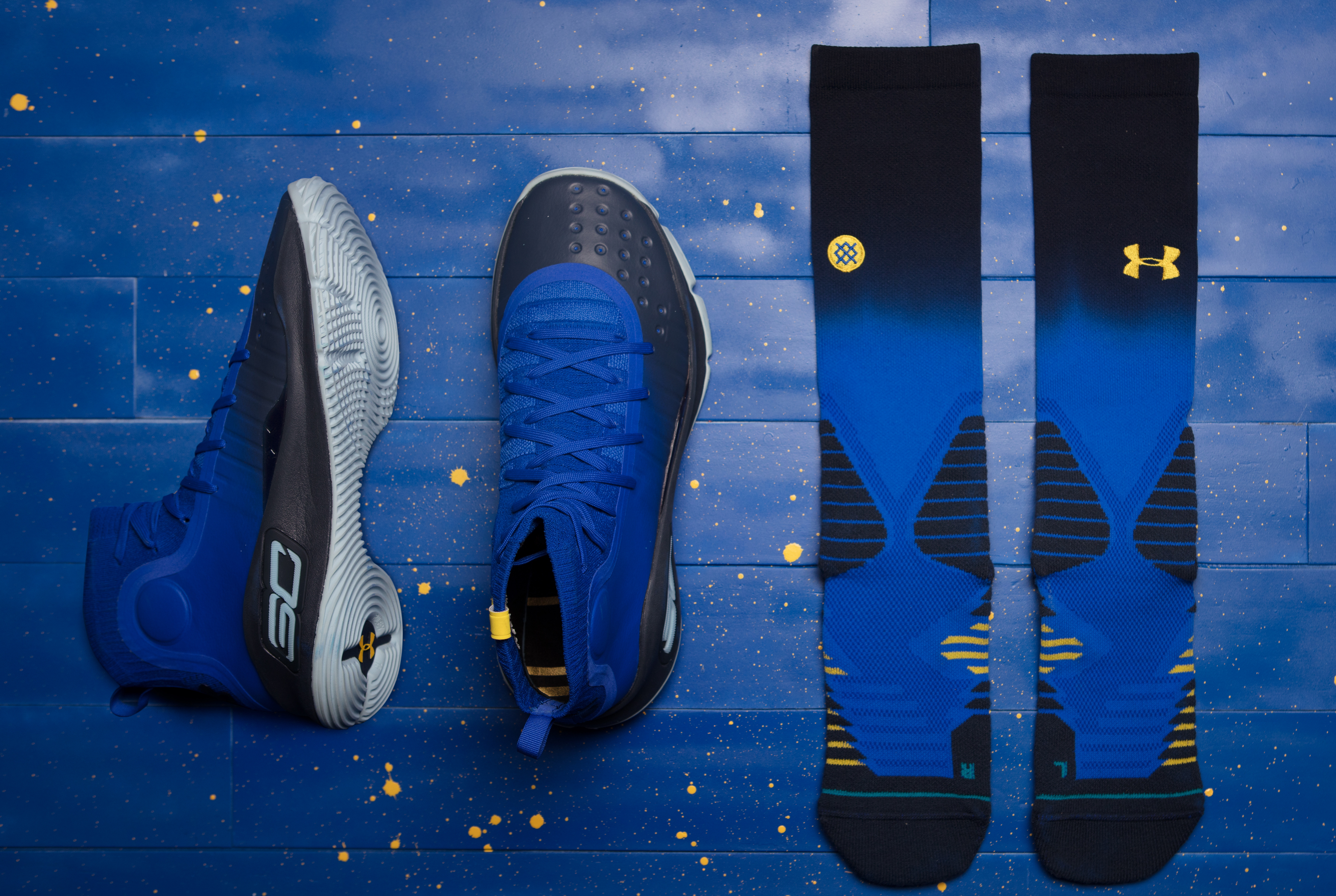 94860cc90d37 Under Armour Curry 4  More Fun  1298306-401 x Stance 1326667-400 Capsule  Collaboration