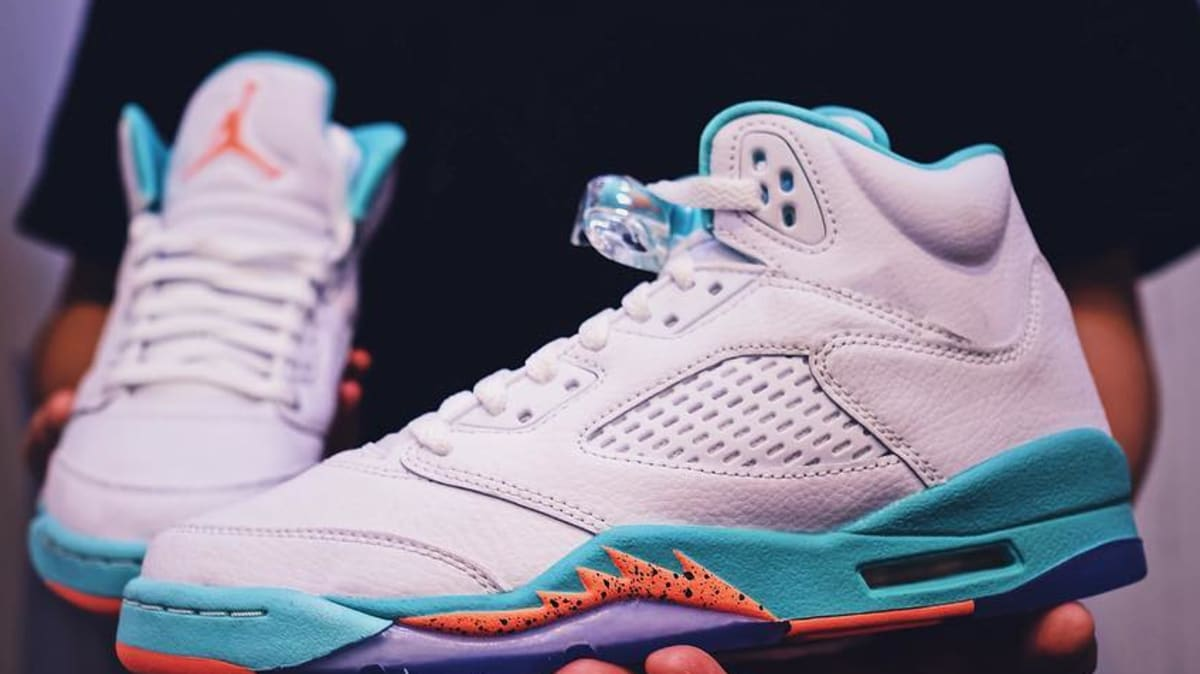 new product 03e51 41721 ... aliexpress air jordan 5 gs miami teal orange sole collector 82fb3 30188