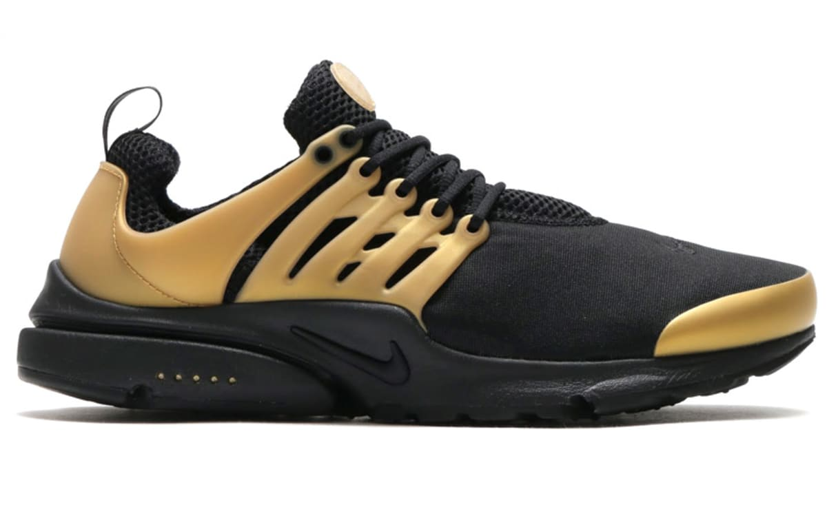 super popular 3e8af 2d708 ... clearance nike air presto black metallic gold sole collector 0fe1e 20540