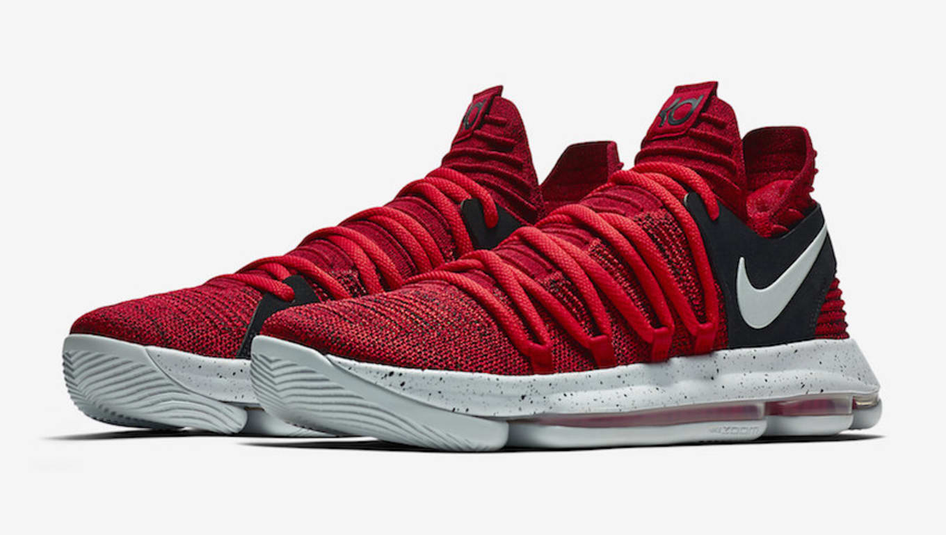 buy online b172f b01d4 Nike KD 10 University Red Black Release Date 897816-600   Sole Collector