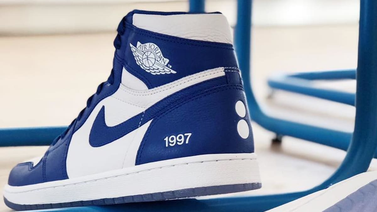 air jordan 1 blue storm door