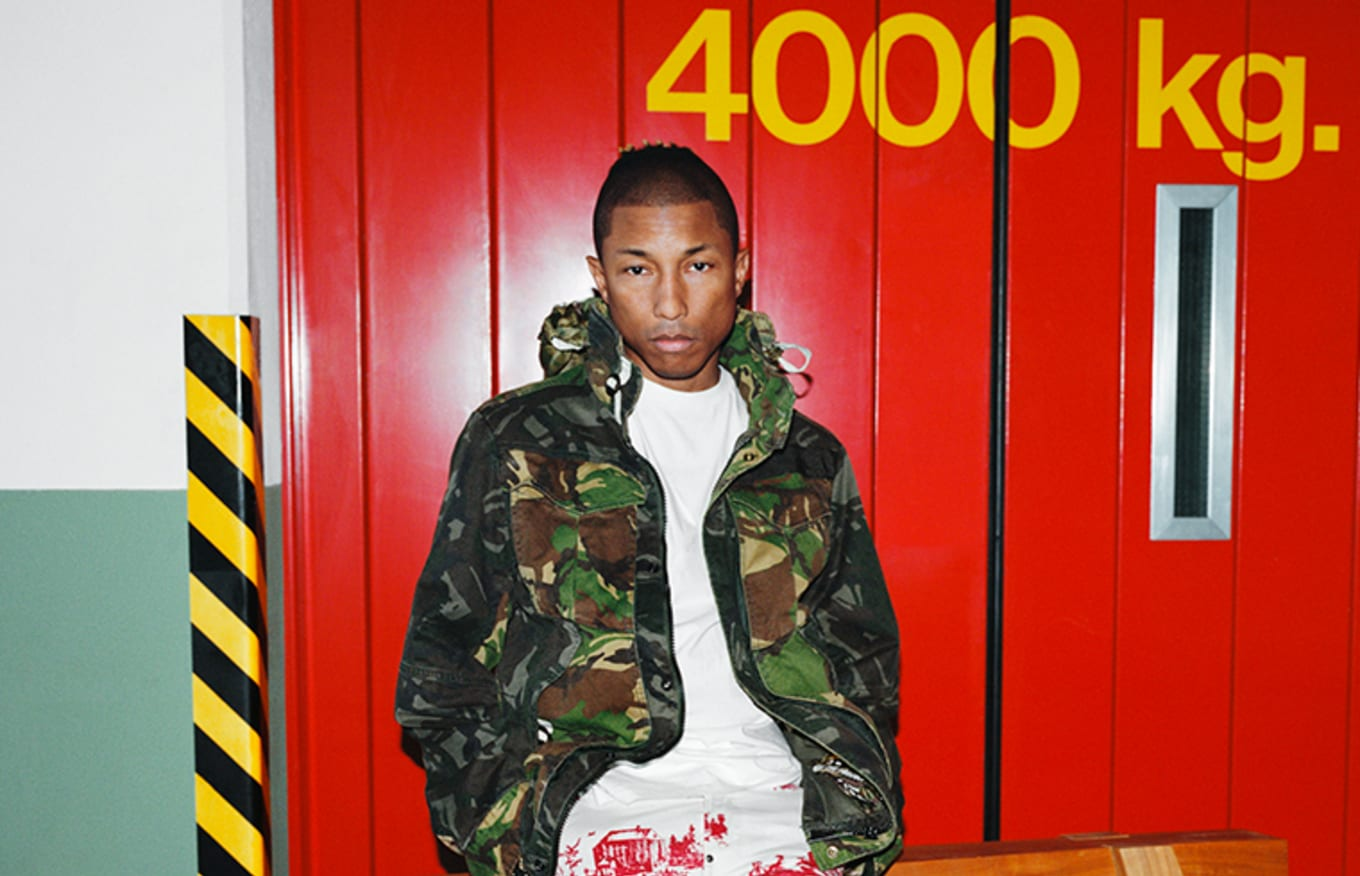 86d0841ef82ee Pharrell Spotted in Unreleased Adidas Solar Glide Hu ST Collab ...