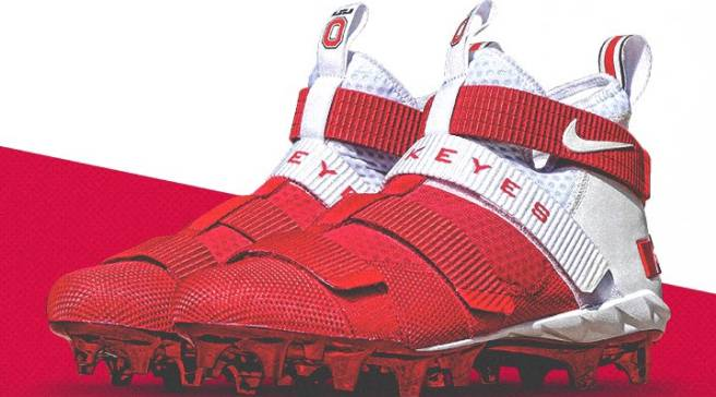 fb35f459f30 Ohio State Unveils Exclusive Nike LeBron Soldier 11 Cleats