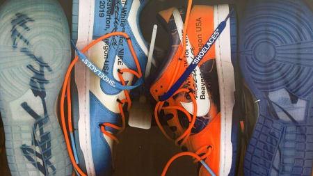 6e665560e1 Virgil Abloh Debuts Nike Dunk Collab With Futura at Paris Fashion Week