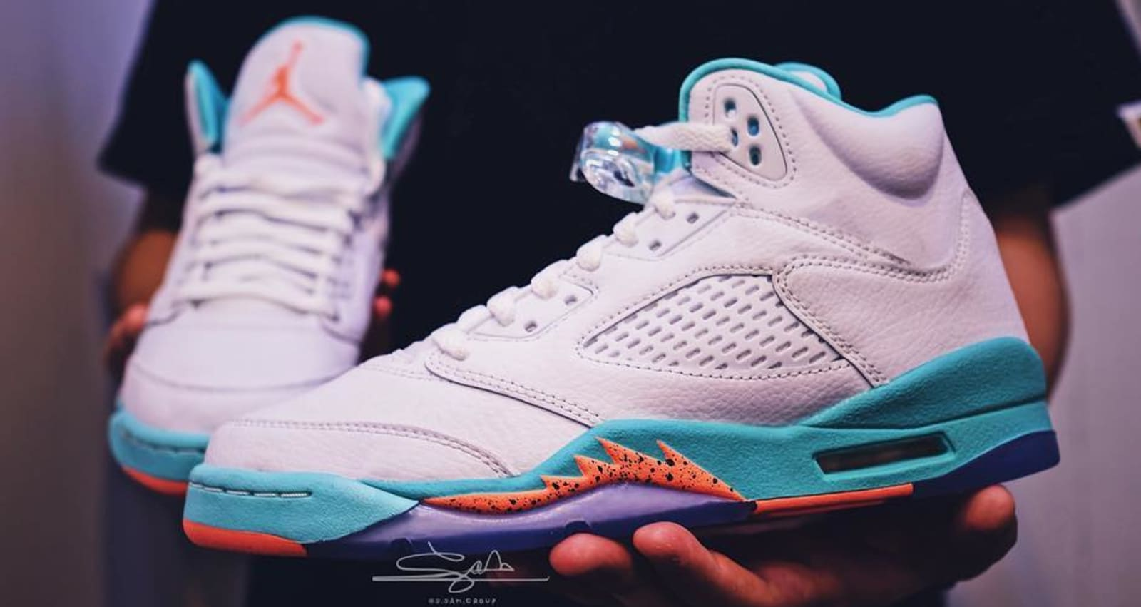 fecfcfbb1337 Air Jordan 5 GS  Miami  Teal Orange