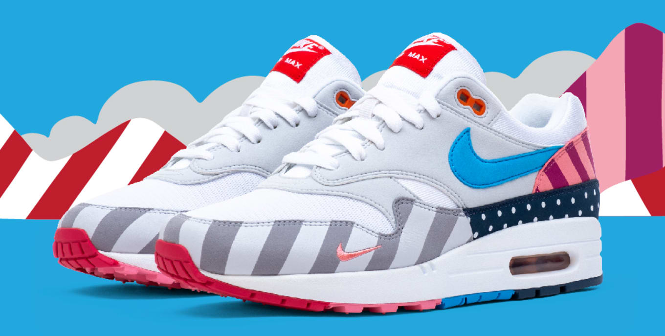 lowest price 916a9 07fd2 Parra x Nike Air Max 1  White Pure Platinum  AT3057-100 Release Date ...