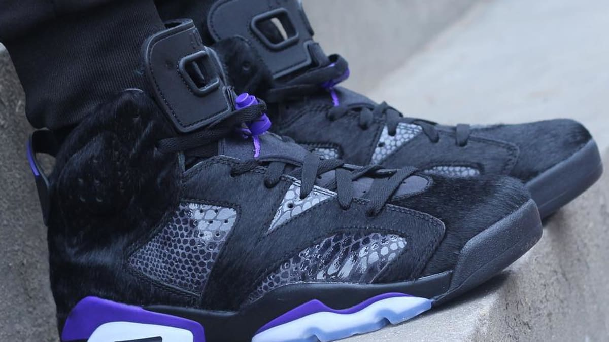 detailed look c8ddb 36dcb Air Jordan 6 Retro PRM 2019  Cow Fur Concord  Release Date   Sole Collector