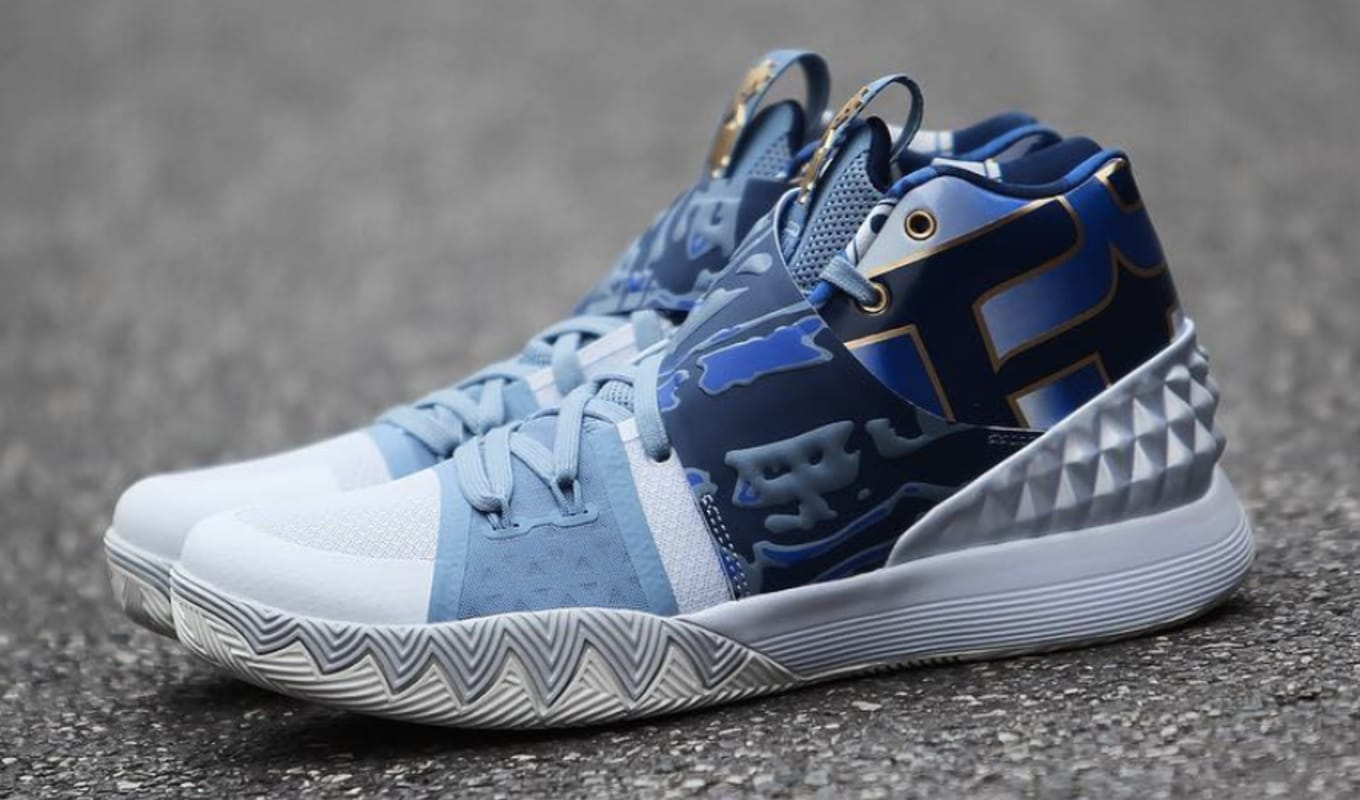competitive price 716c7 f9edf Another Colorway of Kyrie s New Hybrid Model. A blue and gold  What the  Kyrie.