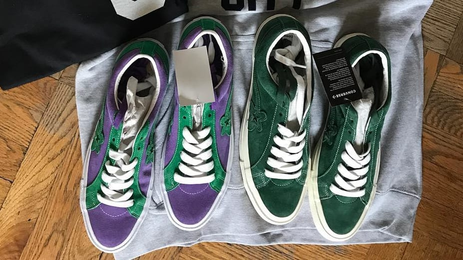 ALL SIZES CONVERSE X GOLF LE FLEUR ONE STAR TYLER THE CREATOR PURPLE / GREEN