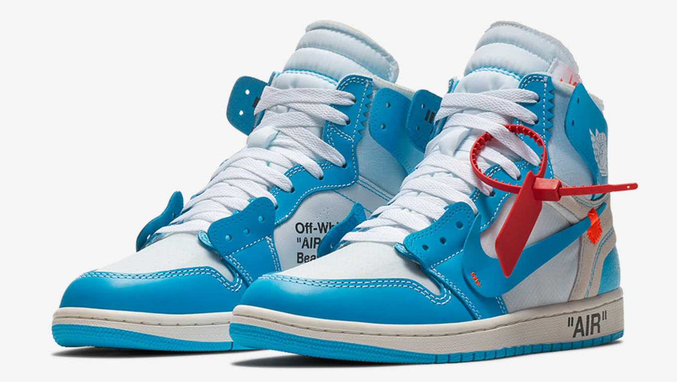 outlet store 7fd1e f4b9b Off-White x Air Jordan 1 UNC Powder Blue Release Date AQ0818 ...